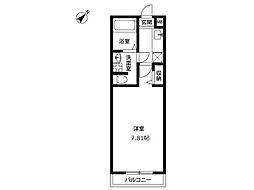 アムール山崎[1階]の間取り