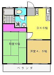 ヴィレッジ青葉台[2階]の間取り