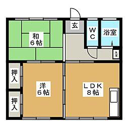 倉内アパート[2階]の間取り
