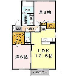 フォレスト枝吉[1階]の間取り