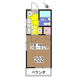 稲村コーポ[202号室]の間取り