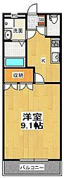 &8556;・Garden[4階]の間取り