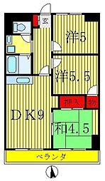 ニュー松戸コーポE棟[6階]の間取り