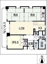 サンブライトハウス[4階]の間取り