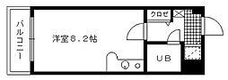 トーカンマンション久留米駅東[408号室]の間取り