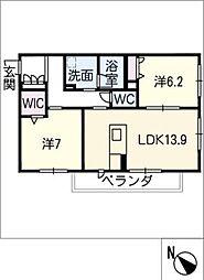 仮)JA賃貸豊田市緑ヶ丘 3階2SLDKの間取り