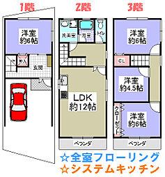 阪急箕面線 桜井駅 徒歩4分 4LDKの間取り