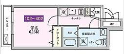 東京都調布市緑ケ丘1丁目の賃貸マンションの間取り