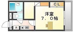 香川県坂出市西大浜北1丁目の賃貸アパートの間取り