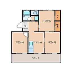 静岡県静岡市葵区西瀬名町の賃貸マンションの間取り