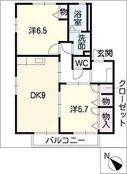 エントピア飯綱B棟[2階]の間取り