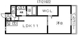 コーポ西今川[3階]の間取り