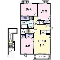ガーデンセレナA[2階]の間取り