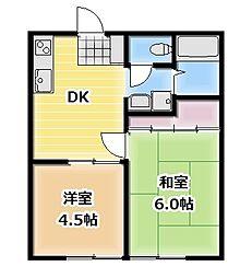 昭和コーポ本庄[2階]の間取り