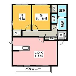 Casa Feliz[2階]の間取り