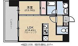ドゥーエ赤坂 14階1LDKの間取り