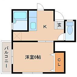 コンフォート宮崎[105号室号室]の間取り