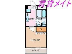 三重県伊勢市御薗町高向の賃貸アパートの間取り