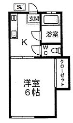 有明荘[203号室]の間取り