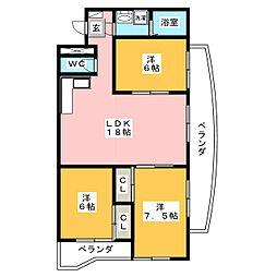 エステート23[1階]の間取り