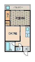 エバーグリーンマンション[3階]の間取り