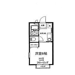 神奈川県相模原市南区相模大野6の賃貸アパートの間取り