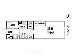 JR山陰本線 円町駅 徒歩6分の賃貸アパート 1階1Kの間取り