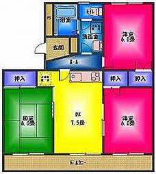 長谷川マンション1[3階]の間取り
