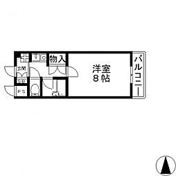 ヴィガ中央長田[502号室号室]の間取り