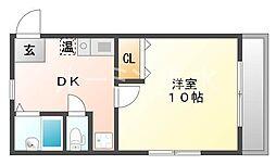 シャインコスモマンション[208号室]の間取り
