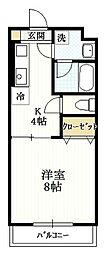 グロワール[3階]の間取り