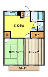 ゴールドヒルNo1[1階]の間取り