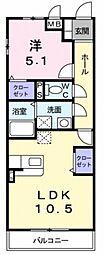 ベルフルールN・K[1階]の間取り