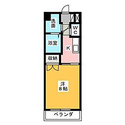 アップル第7マンション[8階]の間取り