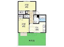 愛知県名古屋市千種区清住町3丁目の賃貸アパートの間取り