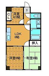 パークハイム渋谷[4階]の間取り