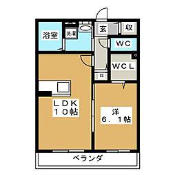Ambicia両郷[2階]の間取り