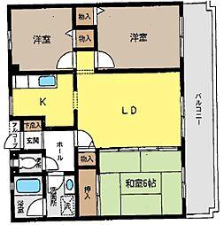 神奈川県茅ヶ崎市中島の賃貸マンションの間取り