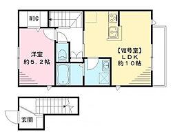 東京都杉並区井草3丁目の賃貸アパートの間取り