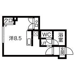 アクシルコート[2階]の間取り