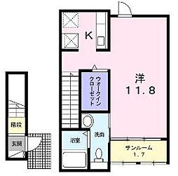 香川県丸亀市富士見町1丁目の賃貸アパートの間取り