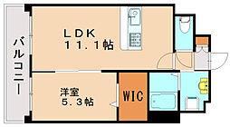 レトワール吉塚[4階]の間取り