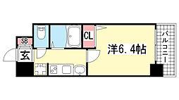 エステムプラザ神戸水木通グランクロス[2階]の間取り