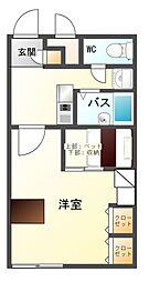 長野県上田市踏入2丁目の賃貸アパートの間取り