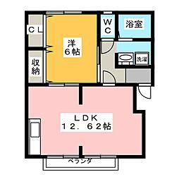 フローラルガーデン B棟[2階]の間取り