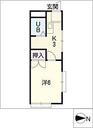 ハイツヤマサ[1階]の間取り