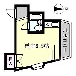 大阪府門真市御堂町の賃貸マンションの間取り
