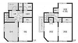 [テラスハウス] 神奈川県座間市相模が丘1丁目 の賃貸【/】の間取り