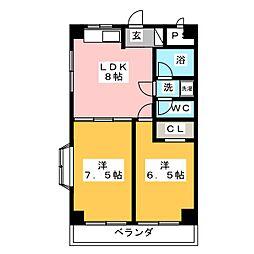 ブランメゾンコジマ[5階]の間取り