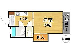 第一中川ビル[2階]の間取り